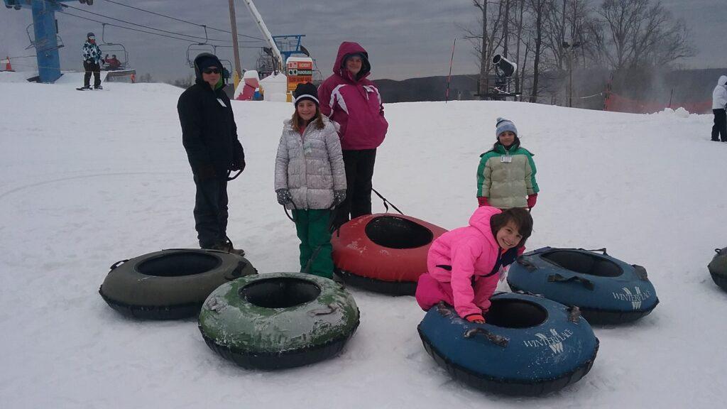 Fun snow tubing