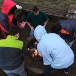 Bonfire night at the Boys' cottage!