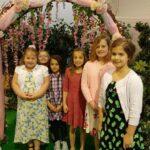 girls at princess party